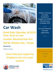 Children's Services Car Wash Fundraiser @ Advanced Auto Parts